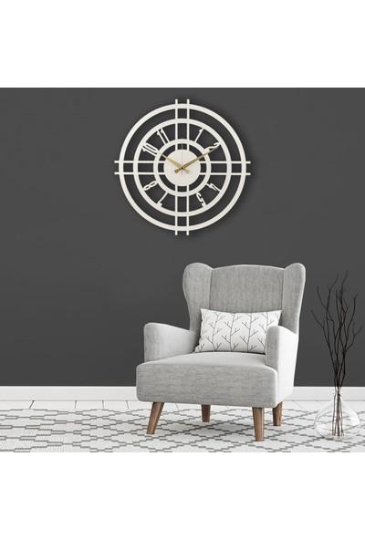 Muyi̇ka Ente Metal Beyaz Duvar Saati 50X50CM