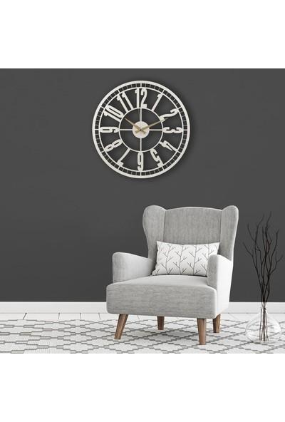 Muyi̇ka Whi Metal Beyaz Duvar Saati 50X50CM