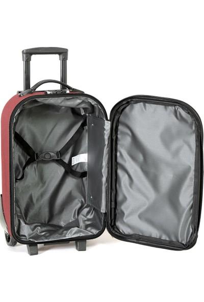 Travel Soft U Kmr 6001-K Bordo Unisex Küçük Valiz