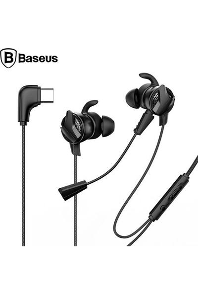 Baseus Gamo C15 USB Type C Mikrofonlu Pubg Oyuncu Kulaklığı Siyah