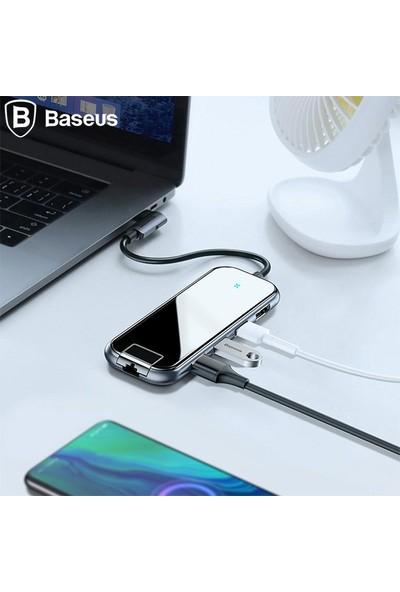 Baseus Multi-Functional Hub (Type-C To 3 X USB 3.0 + HD 4K + RJ45 + PD) Adaptör