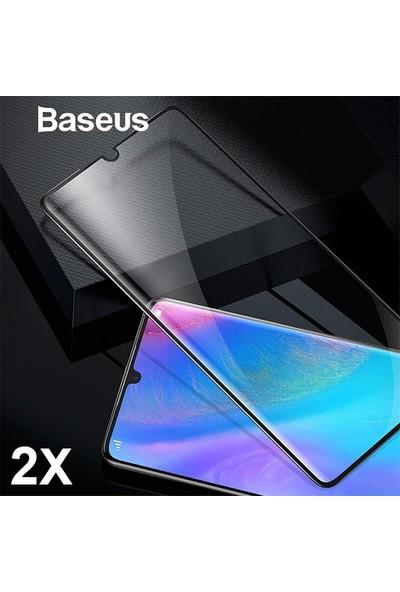 Baseus Huawei P30 3D Full Kaplayan Darbe Emici Ekran Koruyucu 2 Adet Set