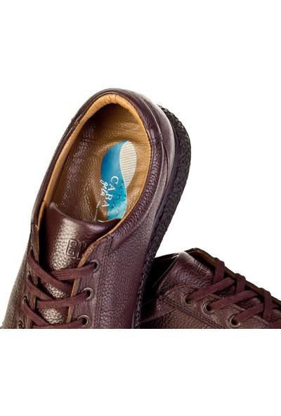 Cabani Sneaker Ayakkabı Kahverengi Floter Deri