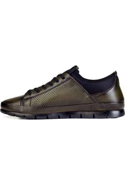 Cabani Günlük Ayakkabı Yeşil Deri