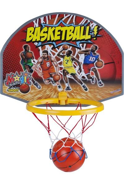 Güçlü Toys Renkli Basketbol Çemberi Ağı Basket Potası Oyuncak Süper Pota