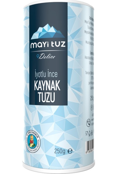 Mayi Tuz Iyotlu Ince Doğal Tuz (Tuzluklu) 250 gr
