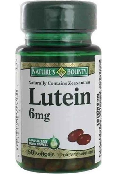 Natures Bounty Lutein 6 Mg 50 Softgels