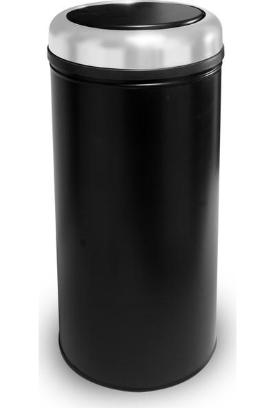 Foreca Pratik Kapaklı Çöp Kovası 27 Lt - Siyah