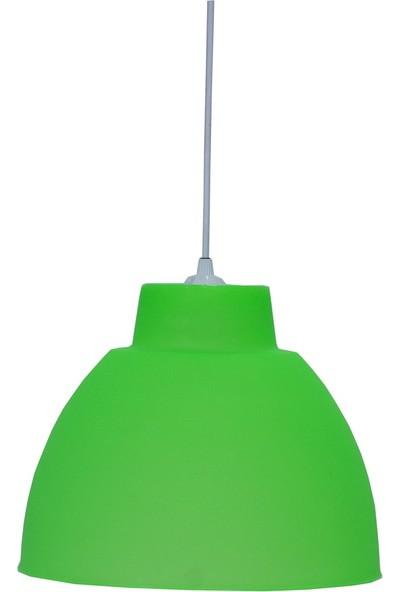 Lambadar Yeşil Plastik Model Avize