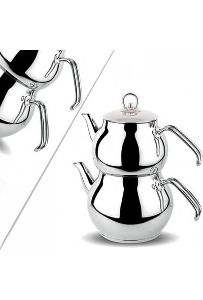 Mini Boy Küre Çelik Çaydanlık Takımı, Metal Kulp
