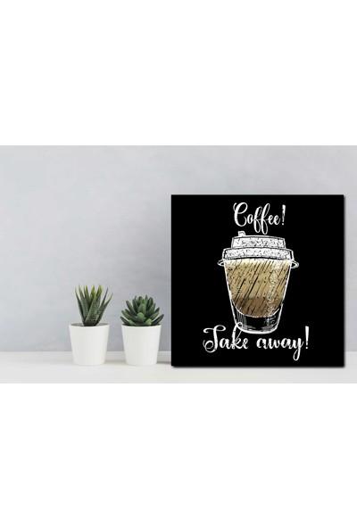 Yamamiya Dekoratif Kahve Bardağı Desenli Mdf Tablo