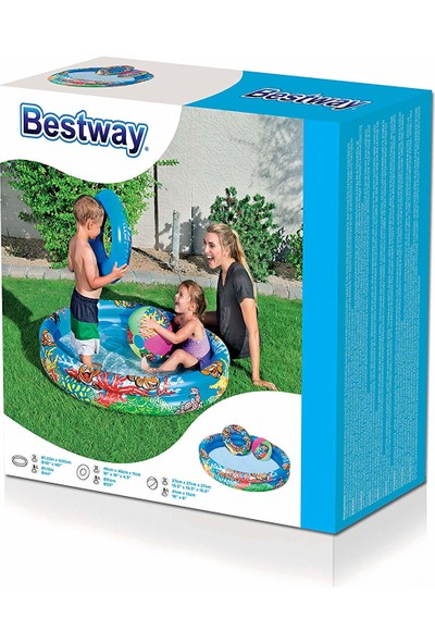 Bestway 51124 Çocuk Havuzu + Top + Simit Set