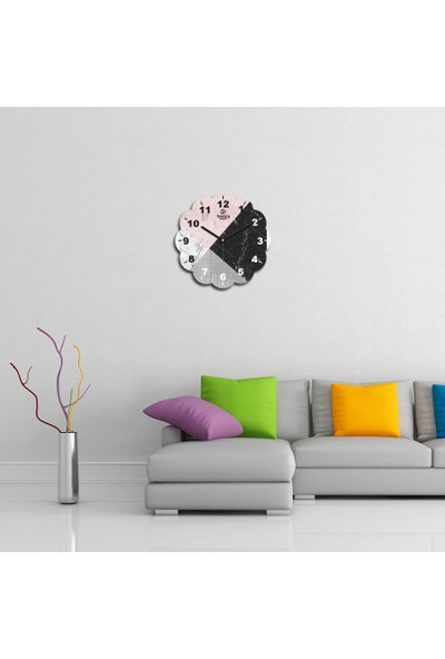 Artolex By Foresta Concept Papatya Dekoratif Mdf Tablo Duvar Saati FRB014