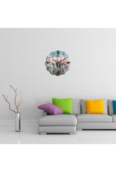 Artolex By Foresta Concept Papatya Dekoratif Mdf Tablo Duvar Saati FRB098
