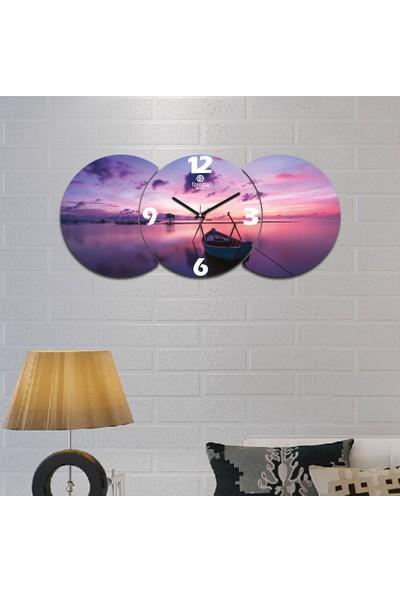 Artolex By Foresta Concept 3'lü Dekoratif Mdf Tablo Duvar Saati FRC002