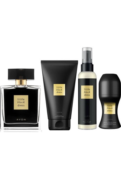 Avon Little Black Dress Edp Bayan Parfüm 50 ml 4 Lü Set