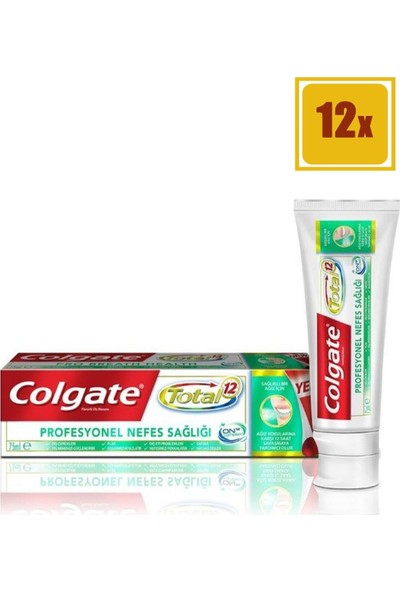 Colgate Total Profesyonel Nefes Sağlığı Diş Macunu 75 ml 12'li Set