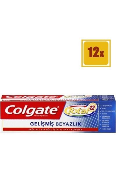 Colgate Diş Macunu Total Profesyonel Beyazlık 50 ml 12'li Set