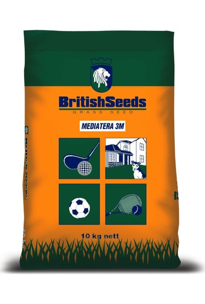 British Seeds, Meditera (Ege-Akdeniz Çim Tohumu) 10Kg