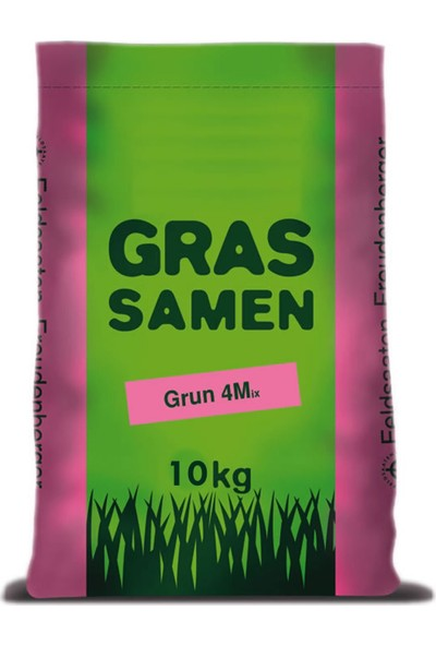 Grassamen, Grün 4M (4'Lü Karışım Çim Tohumu) 10Kg