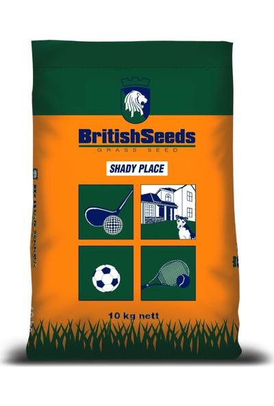British Seeds Shady Place Gölge Alanlar İçin 5'Li Karışım Çim Tohumu - 10 Kg