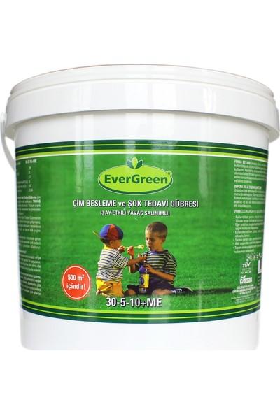 Evergreen Çim Besleme ve Şok Tedavi Gübresi 30-5-10 + ME - NPK Gübre - 10 kg