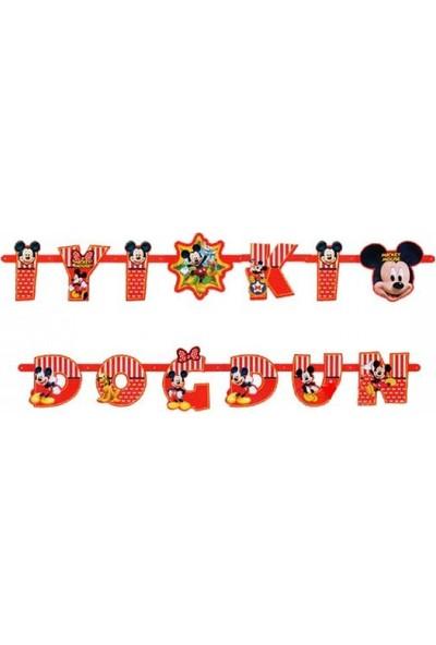 Cakes Party Lisanslı Mickey Mouse Banner İyi Ki Doğdun