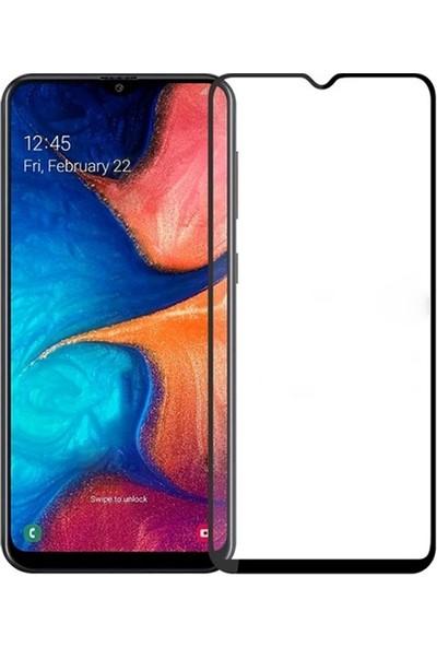 Ally Galaxy A20/A30/A50/M30 3D Full Kaplama Tempered Cam Ekran Koruyucu Siyah