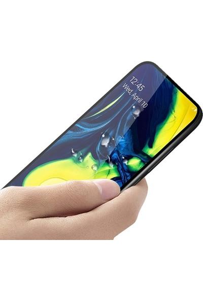 Ally Samsung Galaxy A80 3D Full Kaplama Cam Ekran Koruyucu Siyah