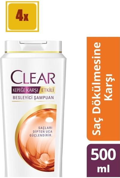 Clear Saç Dökülmesine Karşı Şampuan 550 ml 4'lü Set