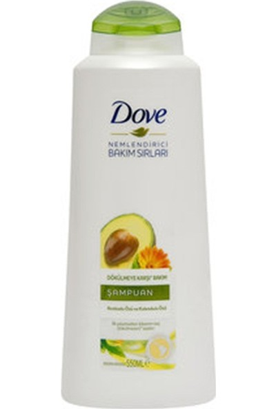 Dove Avakado Özlü Dökülmeye Karşı Bakım Şampuanı 550 ml 4'lü Set