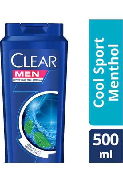 Clear Men Şampuan Cool Sport Menthol 500 ml 4'lü Set