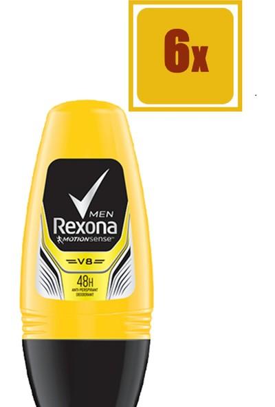 Rexona V8 Men 50 ml Roll On 6'lı Set