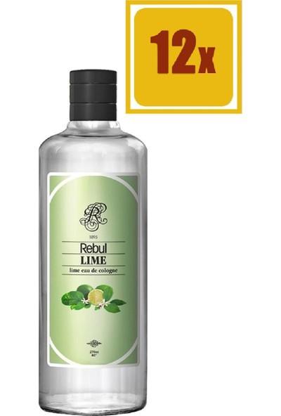 Rebul Kolonya Lime 270 ml 12'li Set