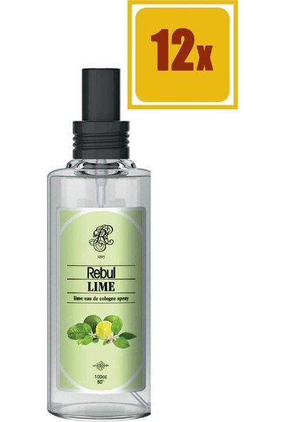 Rebul Lime Sprey Kolonya 100 ml 12'li Set