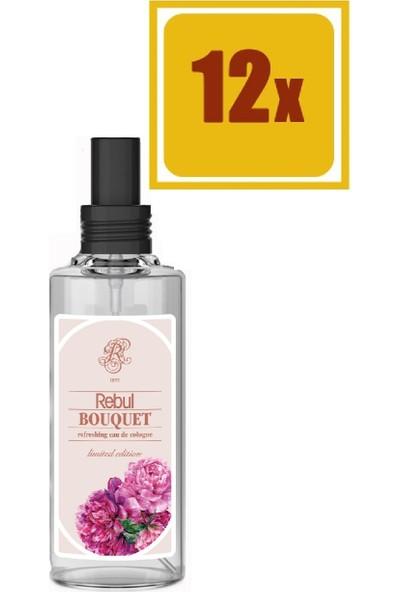 Rebul Bouquet Kolonyası Sprey Cam 100 ml 12'li Set