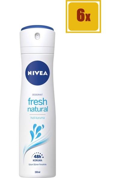 Nivea Fresh Pudrasız Kadın 150 ml Deodorant 6'lı Set