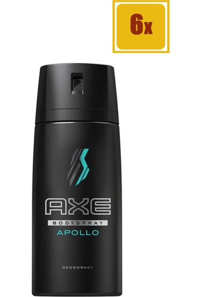 Axe Deodorant Sprey Apollo 150 ml 6'lı Set