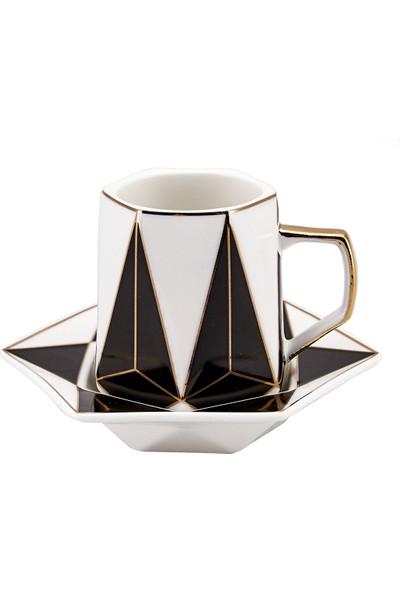 Karaca Hexagon 6 Kişilik Kahve Fincan Takımı