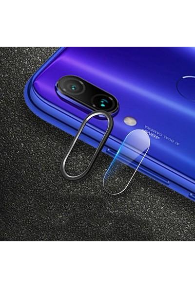 Ally Xiaomi Redmi Note 7 Kamera Koruma Metal Lens+ Cam Set Siyah