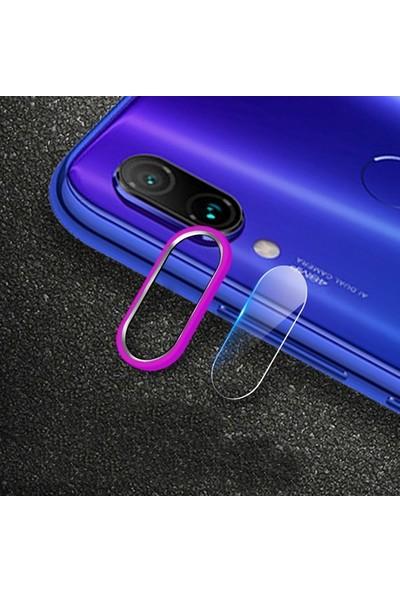 Ally Xiaomi Redmi Note 7 Kamera Koruma Metal Lens+ Cam Set Pembe