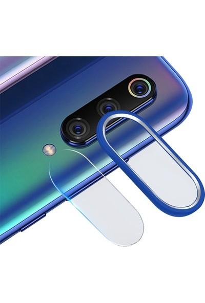Ally Xiaomi Mi 9 Kamera Koruma Metal Lens+ Cam Set Mavi