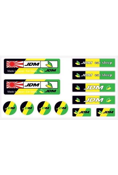 Gecko Jdm Sticker Damla Logo Çıkartma Etiketi 3D