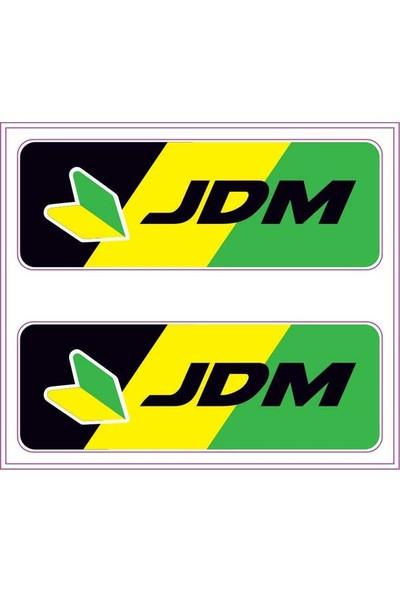 Gecko Jdm Sticker Damla Logo Çıkartma Etiketi 3D 2 Parça