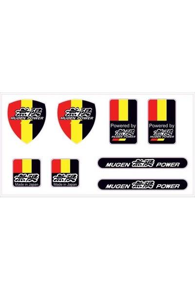 Gecko Mugen Sticker Damla Logo Çıkartma Etiketi 3D