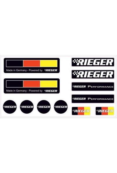 Gecko Rıeger Sticker Damla Logo Çıkartma Etiketi 3D