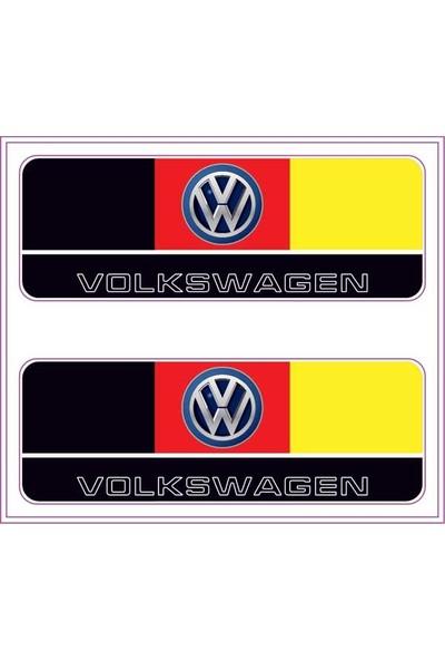 Gecko Volkswagen Sticker Damla Logo Çıkartma Etiketi 3D