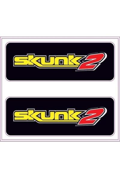 Gecko Skunk 2 Sticker Damla Logo Çıkartma Etiketi 3D 2 Parça