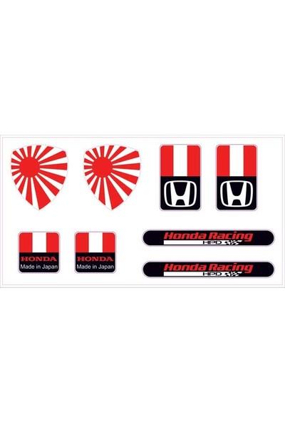 Gecko Honda Sticker Damla Logo Çıkartma Etiketi 3D