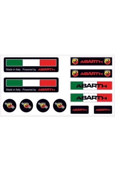 Gecko Abarth Sticker Damla Logo Çıkartma Etiketi 3D